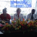 MP Loujaya Kusa, Minister Julie Bishop & Governor Kelly Naru